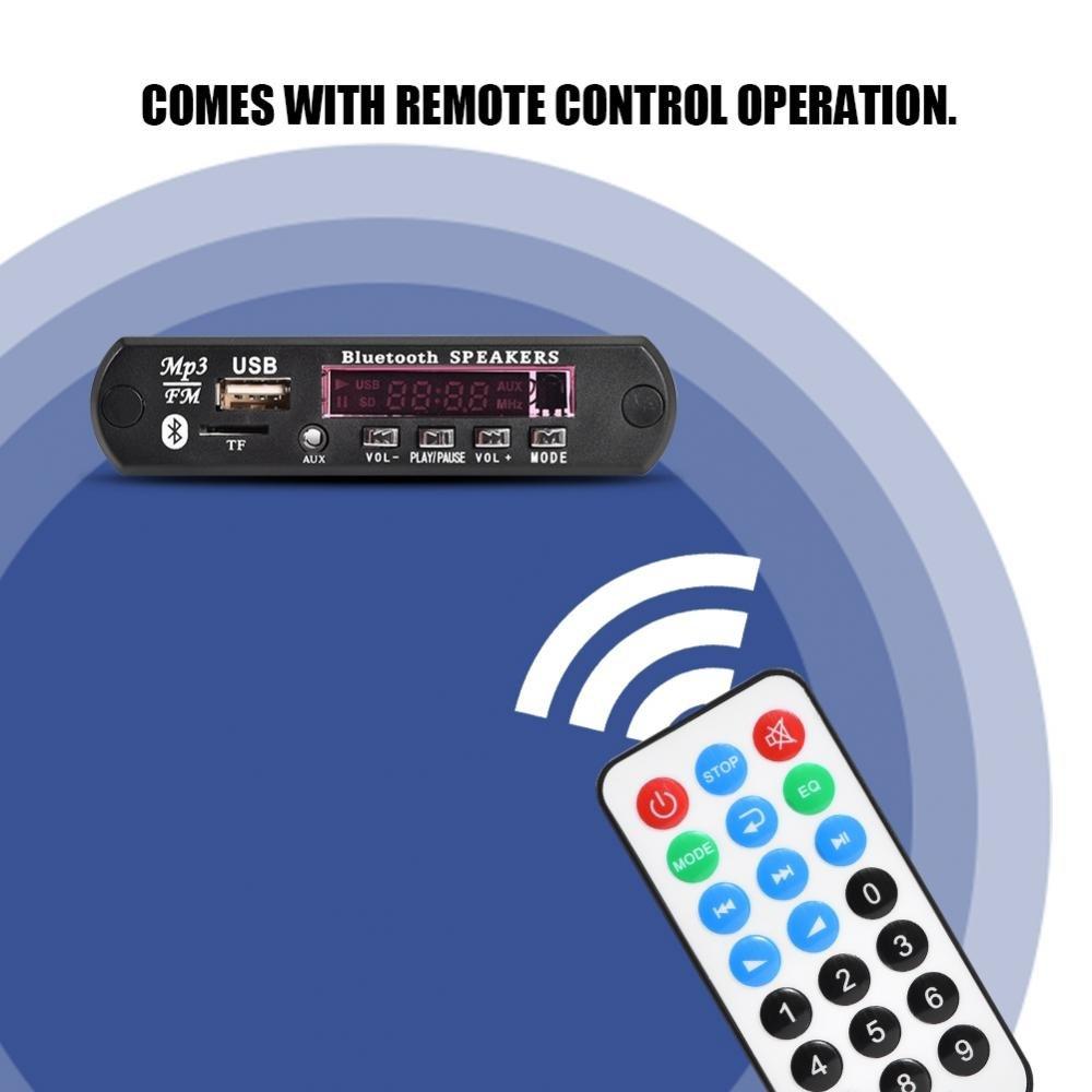 USB TF FM Wireless Audio Decoder Board Module Bluetooth Decoder with Remote Control Support MP3// WMA//FLAC//WAV//APE SoarUp MP3 Decoder