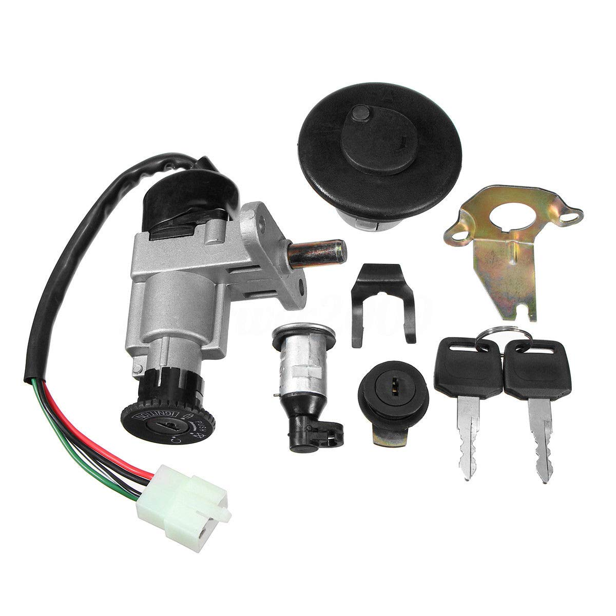 Ignition Switch Lock Key Fuel Cap Replacement for Taotao Moped Scooter 49cc 50cc 150cc GY6 Republe