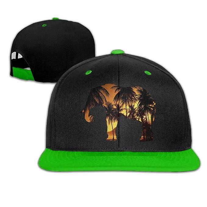 418de72be37 Elephant Wildlife Men s Adjustable Snapback Hip Hop Dad Hat Cap Flat ...