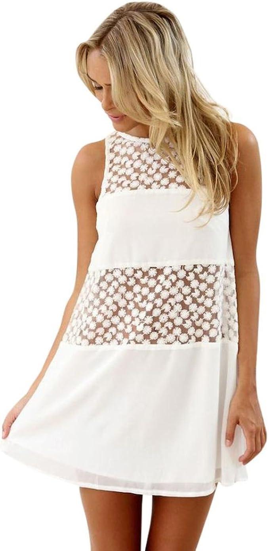 Kleid Damen Kolylong® Frauen Elegant Spitze Ärmelloses Kleid