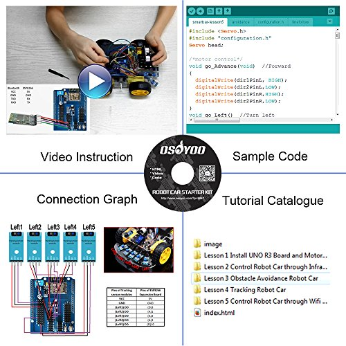 OSOYOO Robot Smart Car for Arduino DIY Learning Kit with