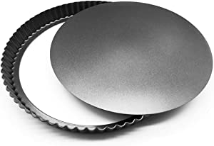 Non-Stick 28cm Tart Tin |Tart Pan, Perfect for Pie Dishes & Quiche Dishes | Cheesecake Tins Removable Base