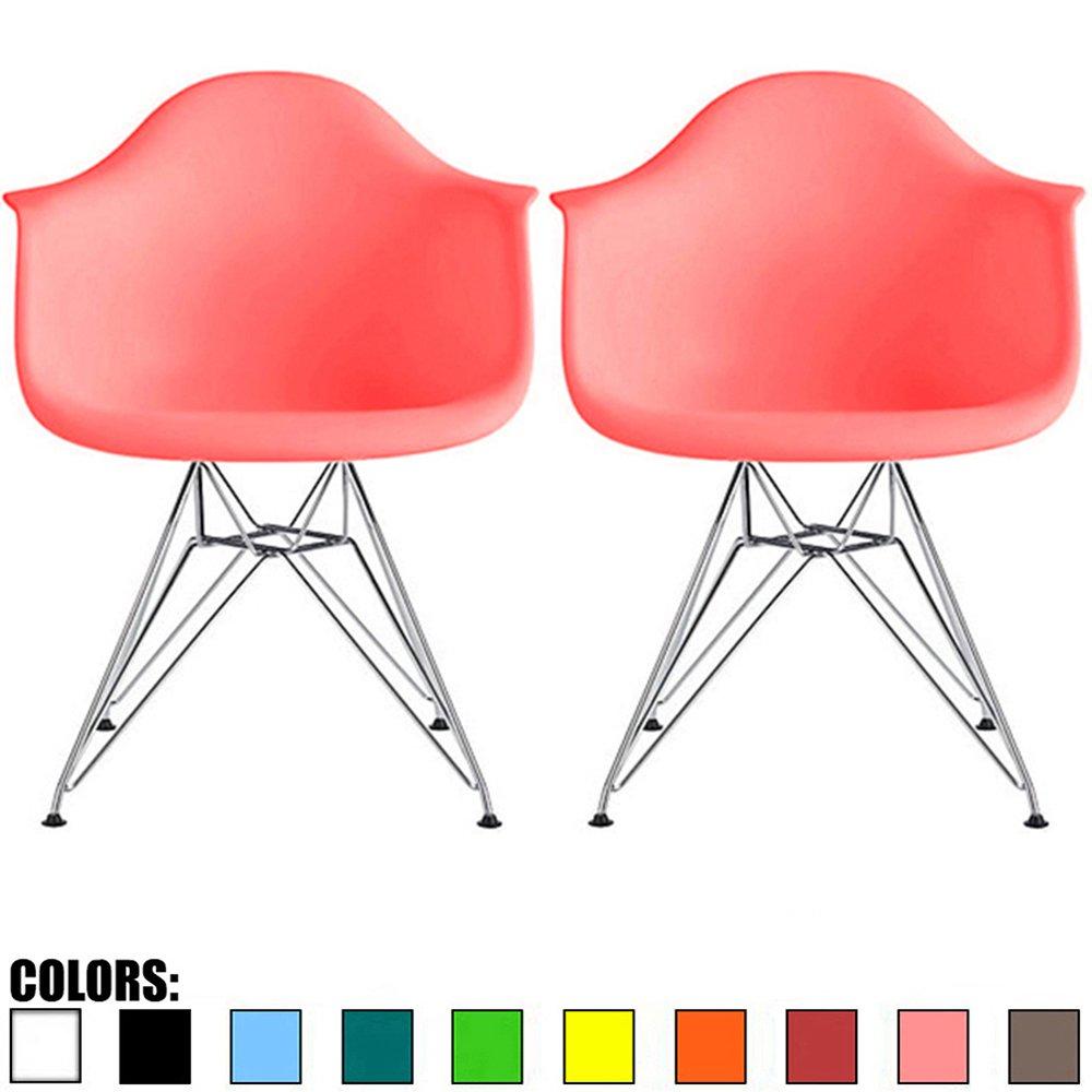 Amazon.com: Juego de 2 sillas de comedor Eiffel (2 unidades ...