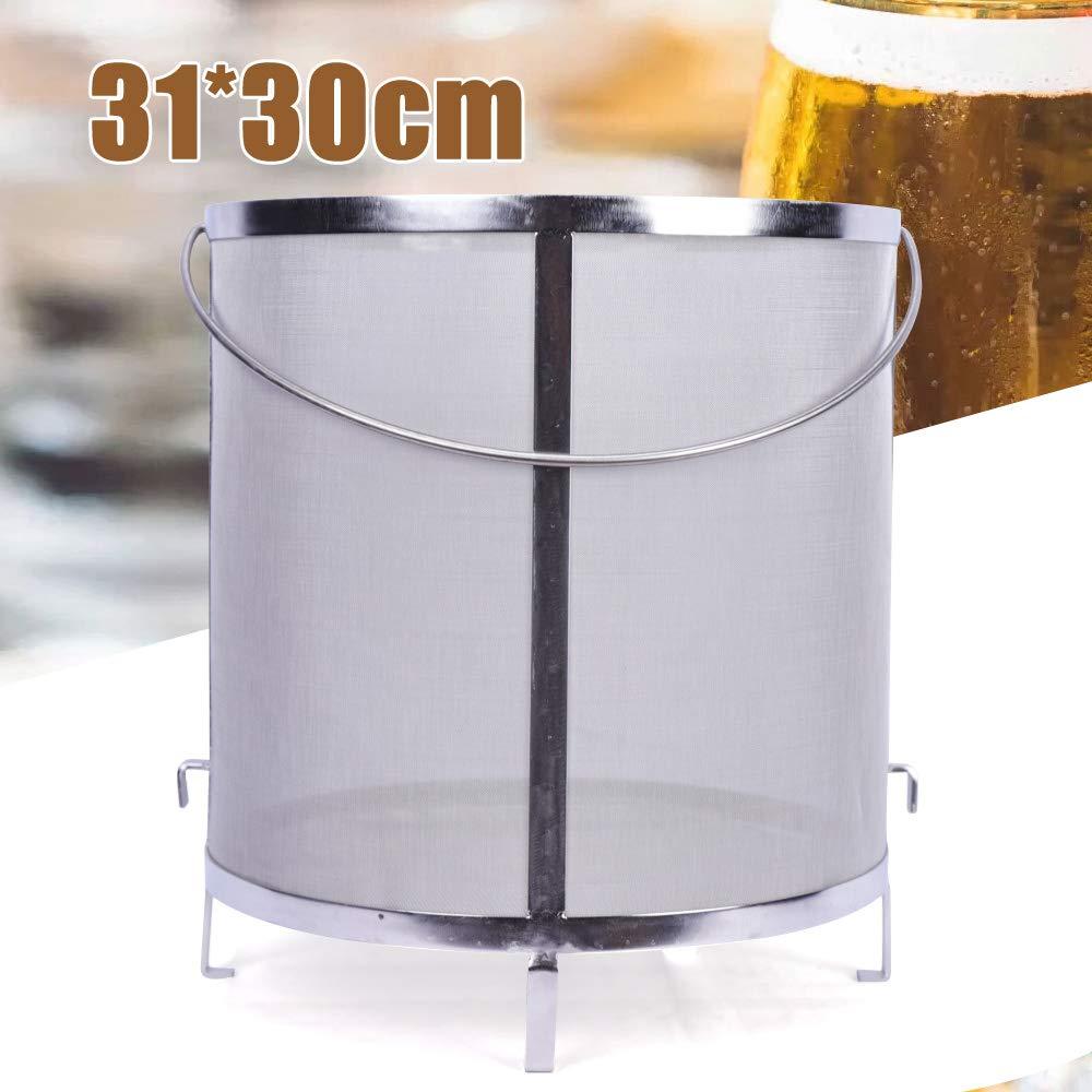 310x300mm Stainless Steel Home Brewing Wine Beer Dry Hops Filter Barrel Strainer Beer Wine Barrel Mesh Strainer Tools