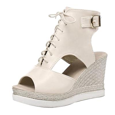 RAZAMAZA Femmes Compensees Sandales Chaussures