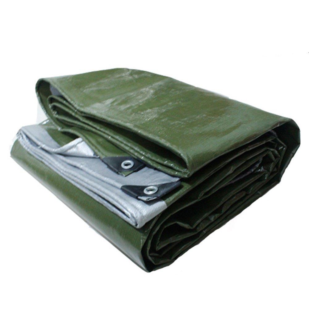 LIXIONG オーニング シェード バックルアイ テント 厚い 屋外 シェードクロス、 180G/M2、 厚さ0.35mm (色 : アーミーグリーン, サイズ さいず : 3x5m) B07F43SKF4 3x5m|アーミーグリーン アーミーグリーン 3x5m