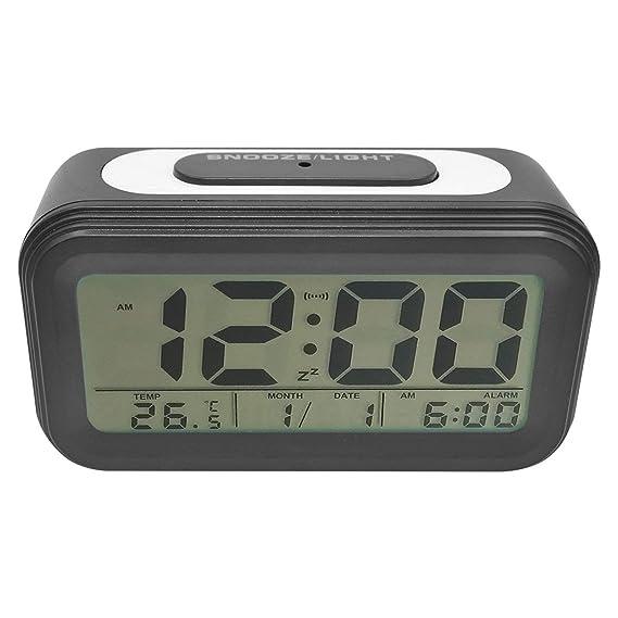 COOJA Reloj Despertador Digital Pilas, Reloj Alarma Despertador Infantil con Luz Snooze Numeros Grandes Temperatura, Despertador Electronico de Viaje Reloj ...