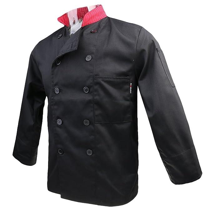 perfk T-shirt Camicie Giacca Cappotto Top Uniformeg Giacche da Chef  Abbigliamento da Lavoro per Cuoco  Amazon.it  Abbigliamento 52b53d5e11ae