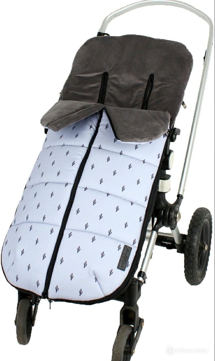 color gris melange NBB Universal Elite Saco de abrigo universal para silla de paseo