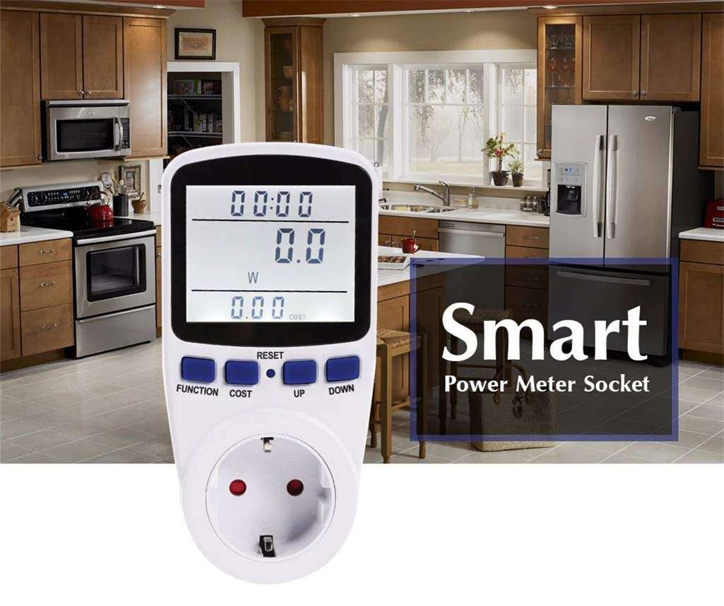 Ugood 1×Power Energy Consumption Watt Meter Electricity Usage Monitor Equipment