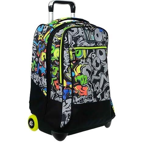 008c302a35 Zaino Big Trolley Scuola Yub Seven Graffiti Cartella Per Bambini Ragazzi  Con Manico e 2 Ruote