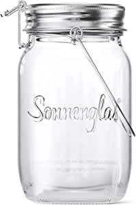 SONNENGLAS Mini 250ml   Original Award-Winning Solar Lantern   Indoor and Outdoor   With USB Charging l Glass and Stainless Steel   Decorate Inside   Fair Trade from South Africa