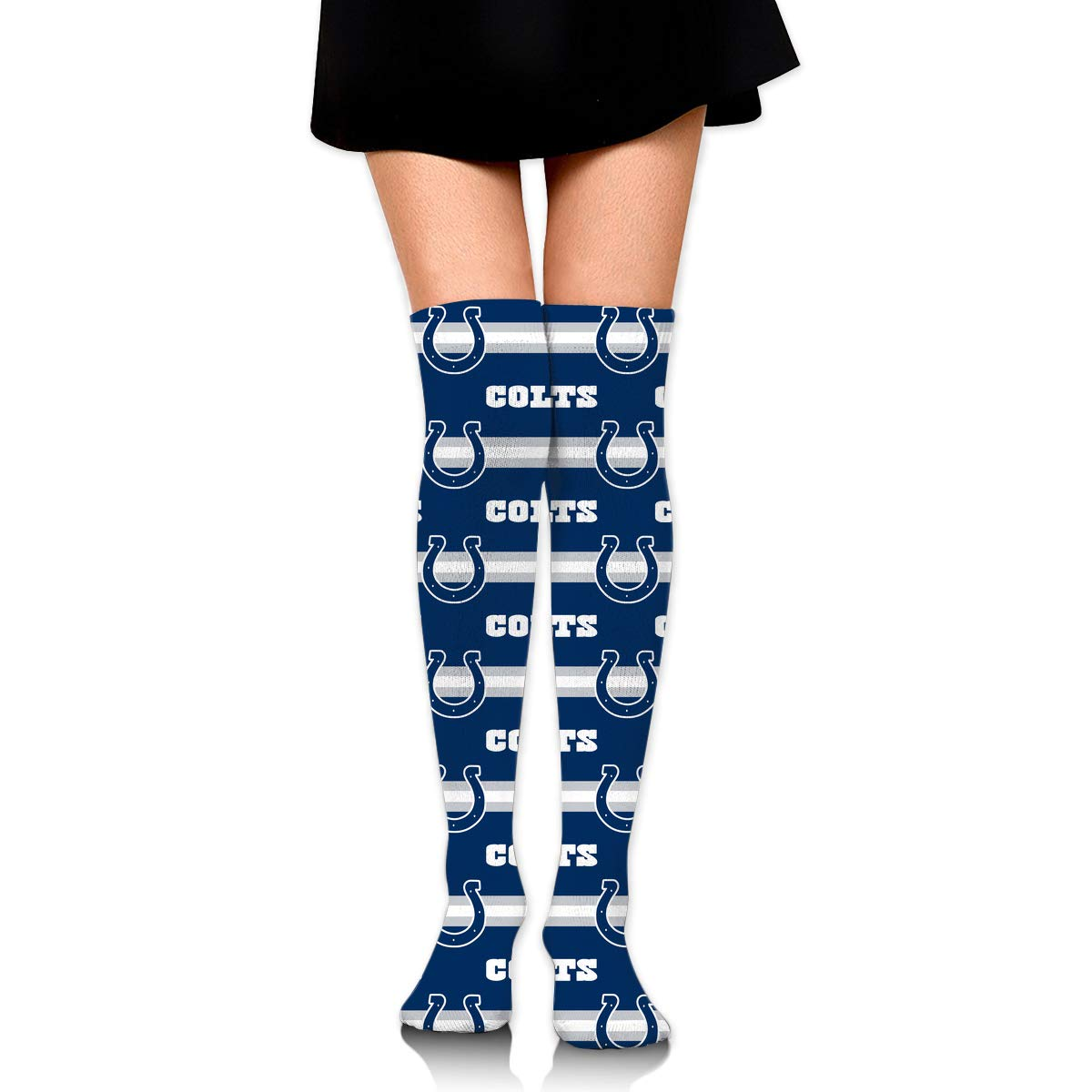 Sorcerer Custom Girls Over Knee High Boot Stockings Leg Warmers Indianapolis Colts Women's Polyester Thigh High Socks Gift by Sorcerer