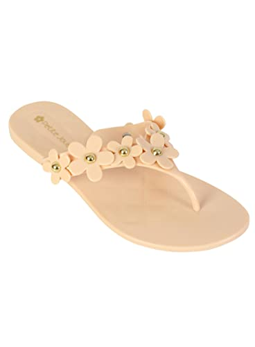 Petite Jolie Papaya Daisy Flip Flops RRP £29.00
