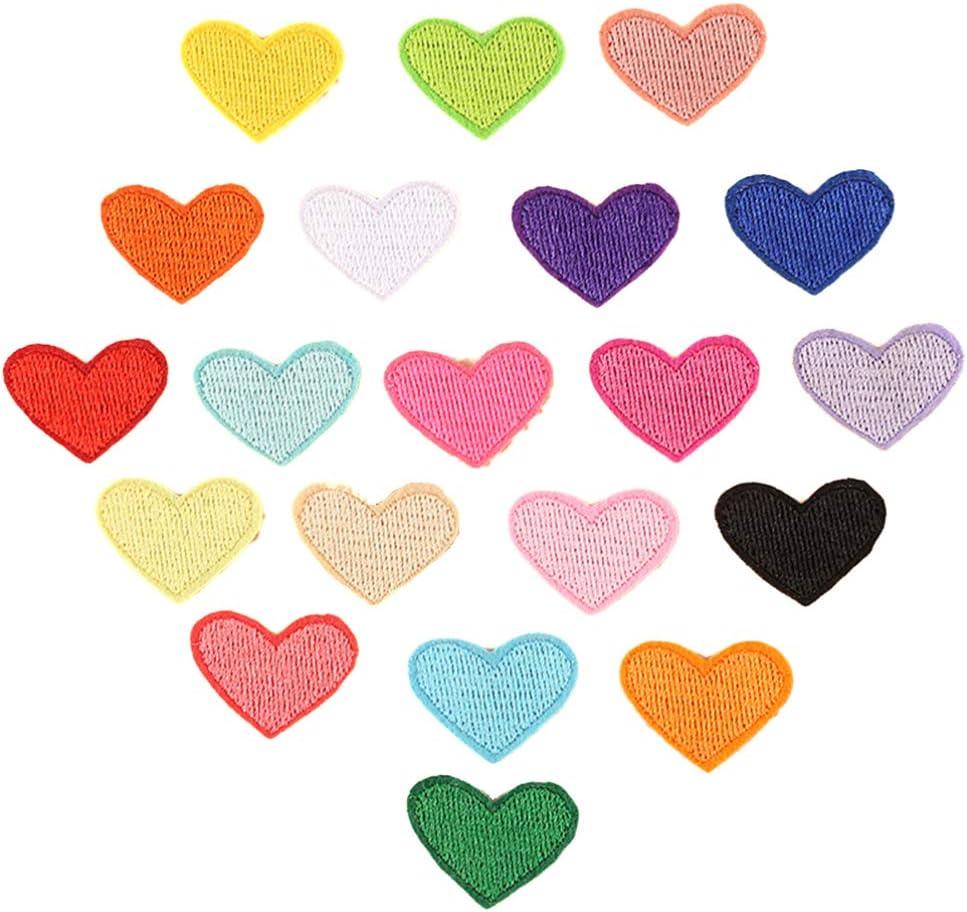 Healifty 20 Piezas Parches de Ropa de Corazón Pegatinas Reparación ...