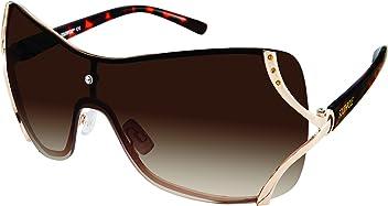 26ff647d8689 Southpole Women s 454sp-gld Shield Sunglasses Gold 60 mm