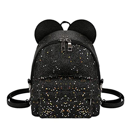 78927aa027 PUAG Casual Daypacks Backpack Bright Sequined Backpacks for Women Mini Cute  Backpack for Girls Multifunctional Princess Small Shoulder Bag Stylish  School ...