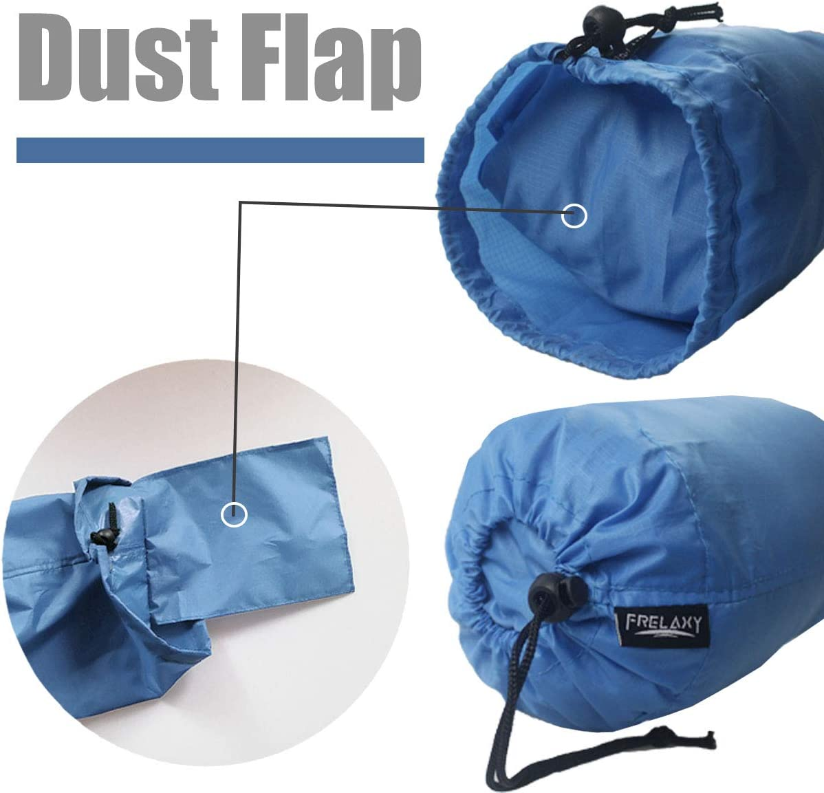 Ultralight Ditty Bags with Dust Flap for Travelling Hiking Backpacking Frelaxy Stuff Sack Set 3-Pack