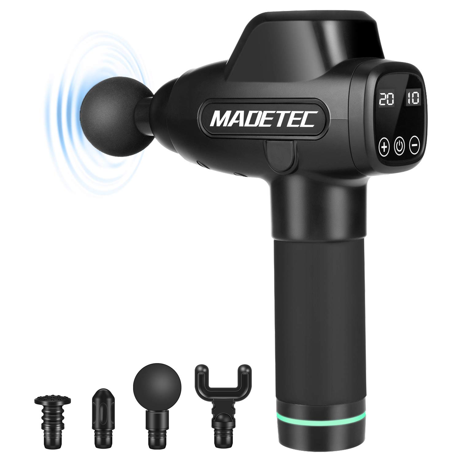 MADETEC Professional Muscle Massage Gun for Athletes and Pain Relief,Handheld Electric Deep Tissue Muscle Massager Percussion Body Back Massager with 20 Adjustable Speed  Price: $199.99 RATING: