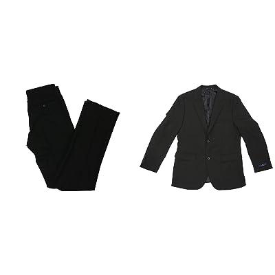 Nautica Men's Modern Fit Active Stretch 2-Piece Suit (Black, 38 Regular / 32 Waist) at Amazon Men's Clothing store