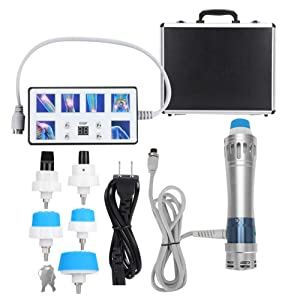 Shockwave Therapy Machine for ED, Extracorporeal Radial Shock Wave Therapy (RSWT) Treatment Euipment for Plantar Fasciitis, Heel Pain, Tendonitis, Elbow Pain(US)