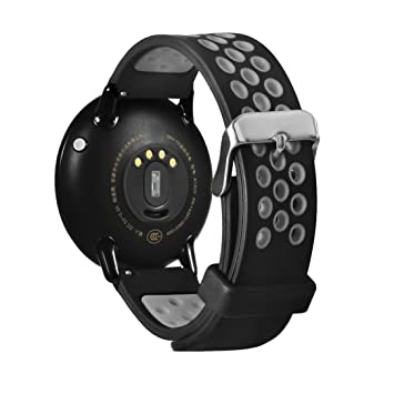 Correa de repuesto para reloj inteligente Xiaomi Huami Amazfit A1602, Y56, 21 cm, liviana, de silicona, gris: Amazon.es: Deportes y aire libre