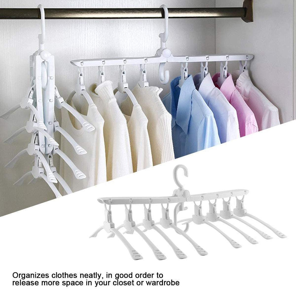 Foldable Wind Hanger Clothes Hangers Clothes Support Hanger Durable Hot Sell UK