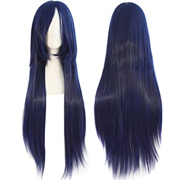 """Long Cosplay Wig 32"""" Synthetic Straight Hair 17Color Orange Black Red Blonde Heat Resistant Costume"""