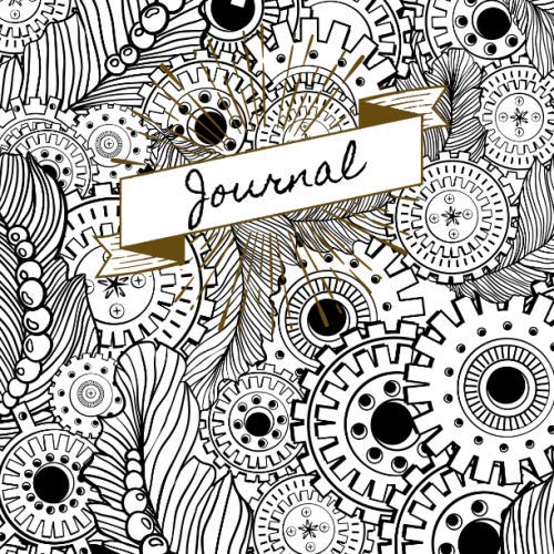 Historical Halloween Costumes Diy (Journal: Steampunk Interior Lined Undated Journal | Black and White Gears and Feathers)