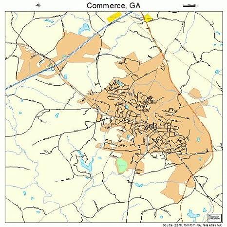 Commerce Georgia Map.Amazon Com Large Street Road Map Of Commerce Georgia Ga