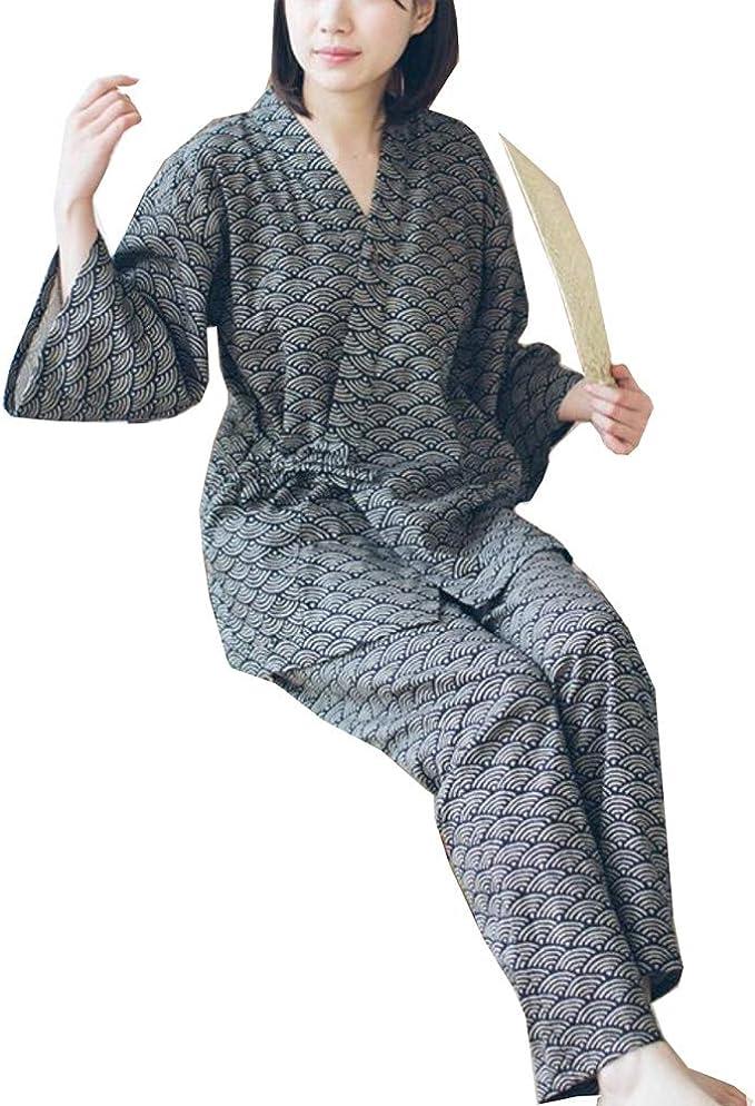Traje de Pijamas de Traje de Pijamas de Estilo japonés Batas ...