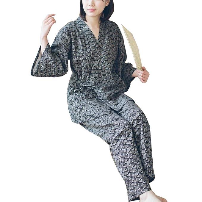 Traje de Pijamas de Traje de Pijamas de Estilo japonés Batas para Mujer [Tamaño L, w1]: Amazon.es: Ropa y accesorios