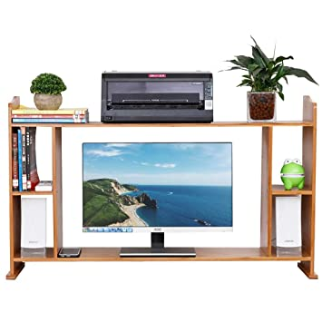 Soportes para monitores Cuello de madera de 2 capas La pantalla de visualización del ordenador incrementó