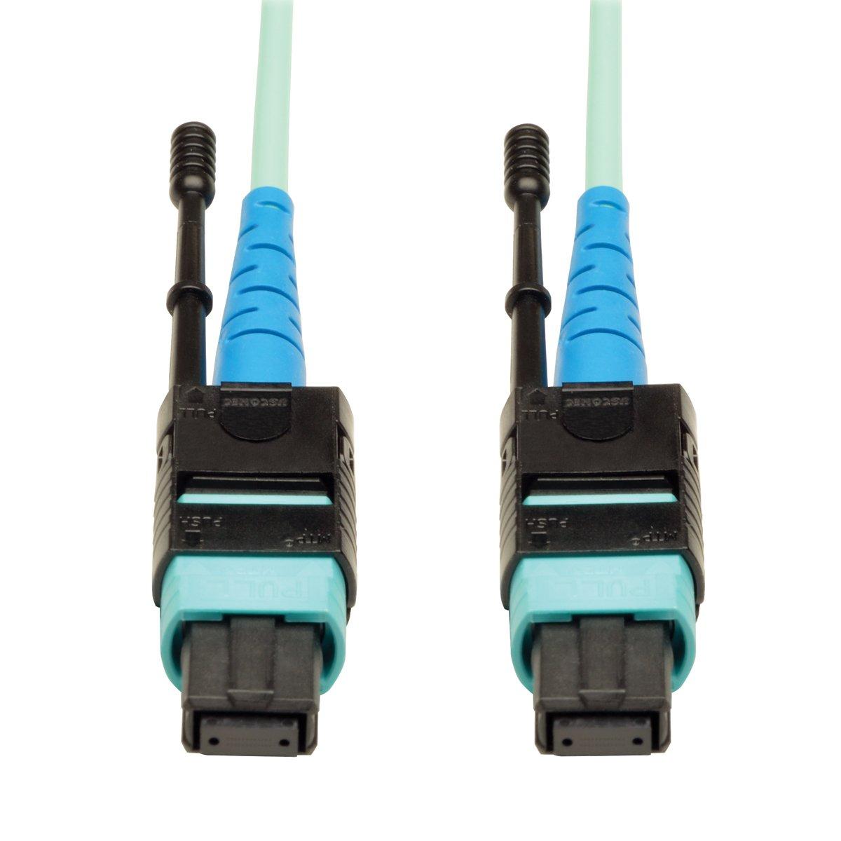 Tripp Lite MTP / MPO Patch Cable 100GBASE-SR10, CXP, 24 Fiber, 100GbE OM3 Plenum-rated - Aqua, 10M (33-ft.)(N846-10M-24-P)