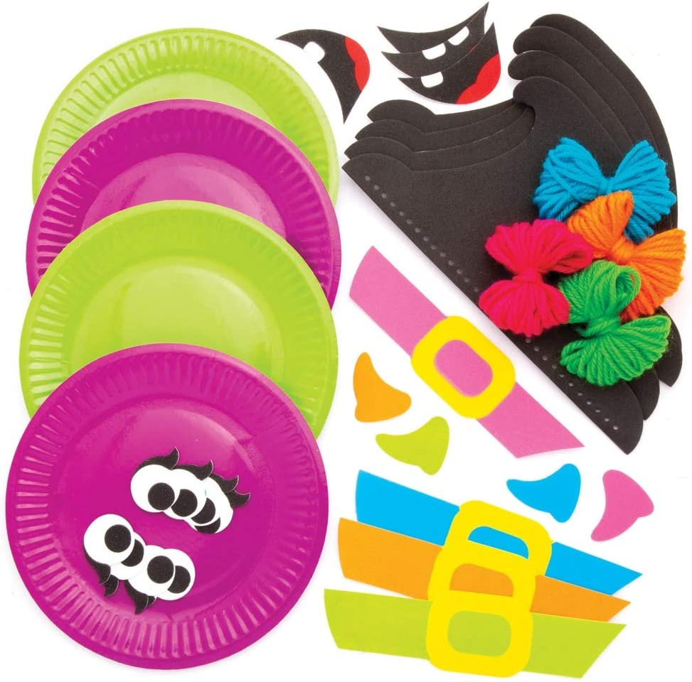Assorted Baker Ross AW785 Witch Plate Decoration Kits