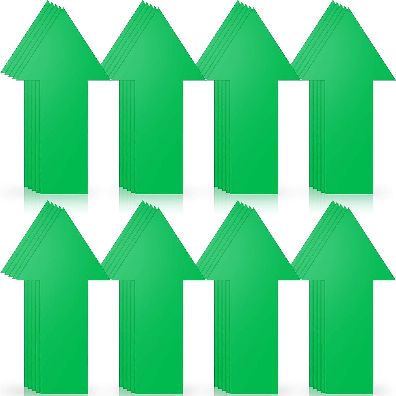 40 Pieces 8 Inch Arrow Sticker, Directional Arrow Sign Removable Adhesive Arrow Floor Decal Waterproof Arrow Marking Arrows Safe Road Instructions Sticker (Green)