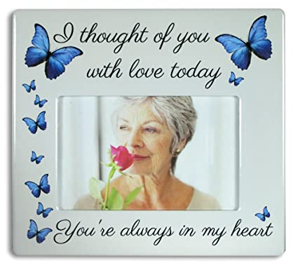Amazon.com - Memorial Picture Frame - I Thought of You with Love ...