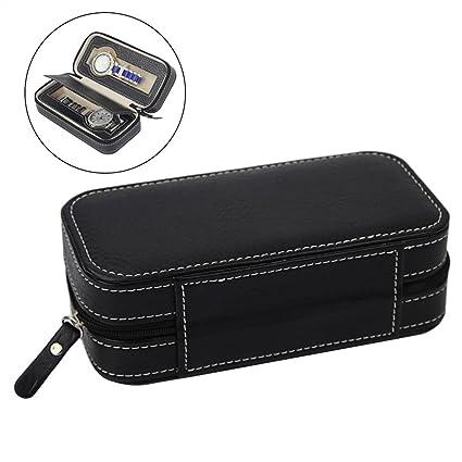 3c141c52addb Amazon.com: NICERIO Holds 2 Watches Zippered Travel Bag Watch Travel ...