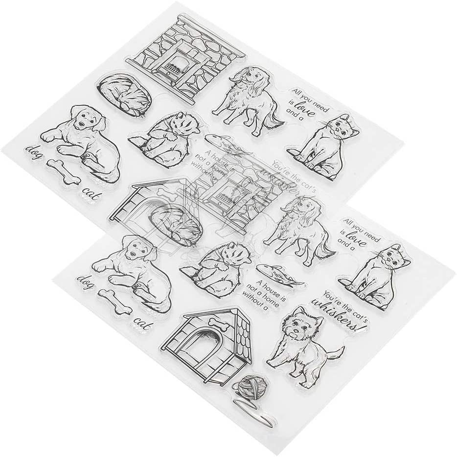 Pet Dog Ink Pad Rubber Stamps Repeated Unique Portable for Album Card for Scrapbooking Photo Album Home Decor