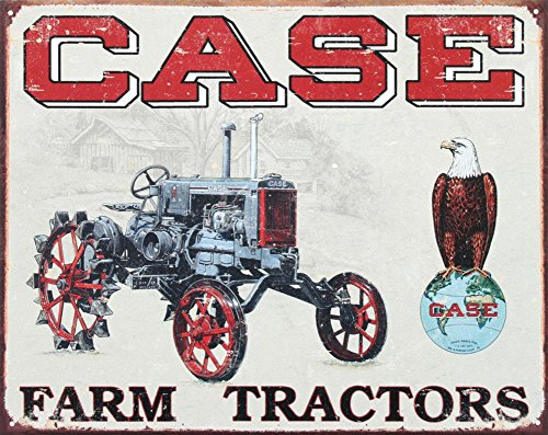 Case Farm Tractors CC High Tin Sign 13 x 16in