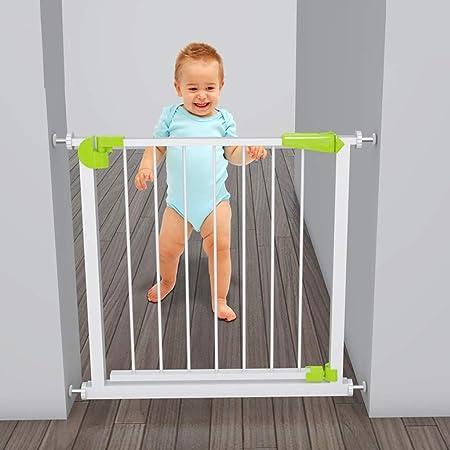 Huo Barrera de Seguridad para Niños de Metal, Puerta de Escalera de Apertura de Puerta Bidireccional (Color : High76CM, Size : 235-244cm): Amazon.es: Hogar