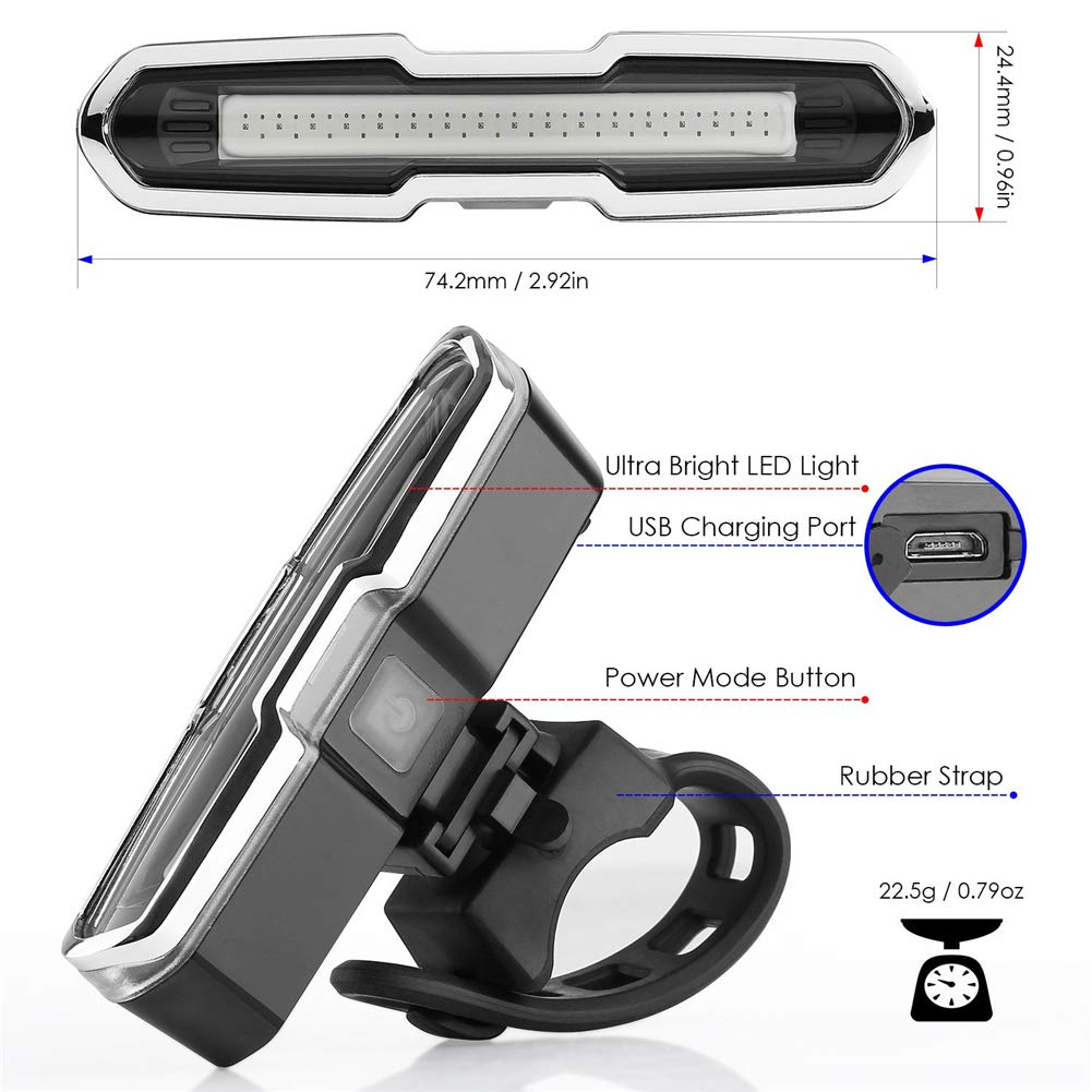 260 Grad breite Sichtbarkeit IP4-wasserdicht 168 Lumen wiederaufladbarer USB-Anschluss TANGR 5 blinkende Modi