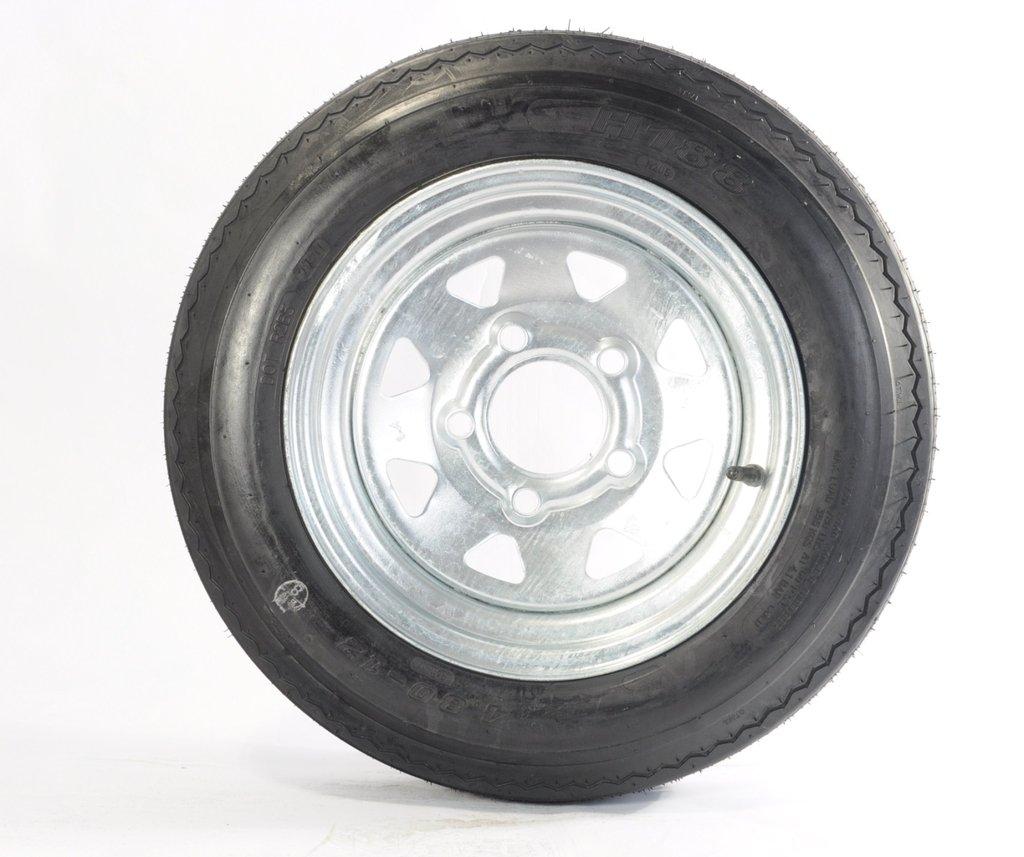 Kenda Loadstar (12x4/5x4.5) Galvanized Spoke Wheel with Steel Finish LRB and Trailer Tire Assembly (480-12)