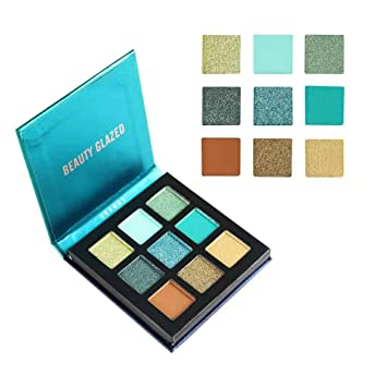 Eye Shadow Beauty Glazed Brand Glitter Eyes Makeup Palette Waterproof Red Gold Blue Pigment 12 Color Glitter Eyeshadow Cosmetics Be Friendly In Use
