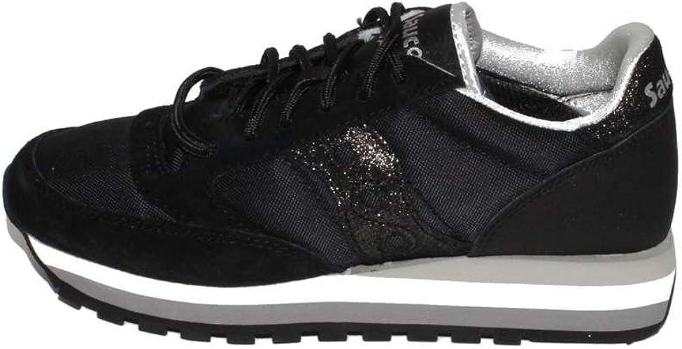 Saucony Sneaker Tessuto Tecnico e Camoscio con para in Gomma e Logo Laterale Glitterato