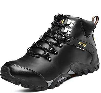 Autumn and Winter High Shoes Outdoors Hiking Shoes With Non Slip Wear Velvet Warm Shoes