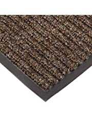 """NoTrax T39 Bristol Ridge Scraper Carpet Mat, for Wet and Dry Areas, 4' Width x 8' Length x 3/8"""" Thickness, Coffee"""