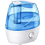 Homasy 2.2L Quiet Ultrasonic Bedroom, Easy to Clean Air Humidifier with 360°Nozzle, Auto Shut-Off, Adjustable Mist Output, Bl