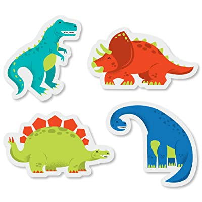 Big Dot of Happiness Roar Dinosaur - DIY Shaped Dino Mite T-Rex Baby Shower or Birthday Party Cut-Outs - 24 Count: Toys & Games