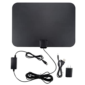 d7e697f10f2 TV Antenna 4K Smart TV Antennas indoor 60 Mile Range 16.5FT Coaxial Cable  with Detachable